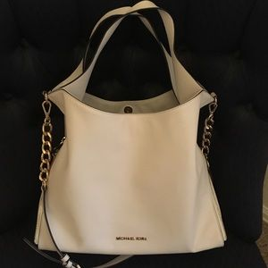 Authentic Michael Kors White Leather Purse